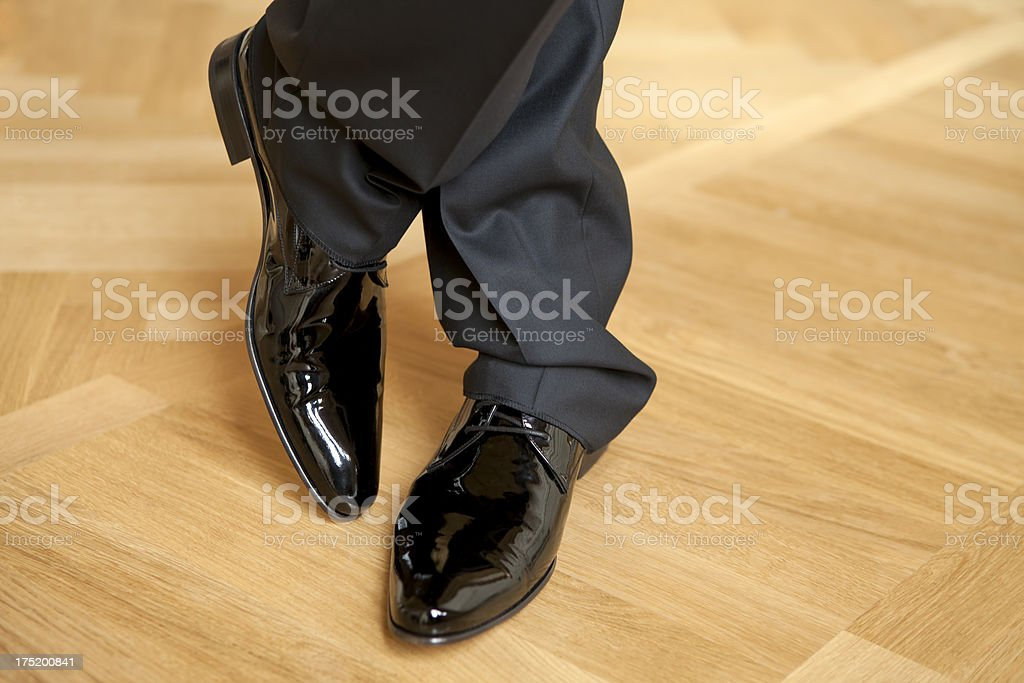 black men's shoes royalty-free stock photo