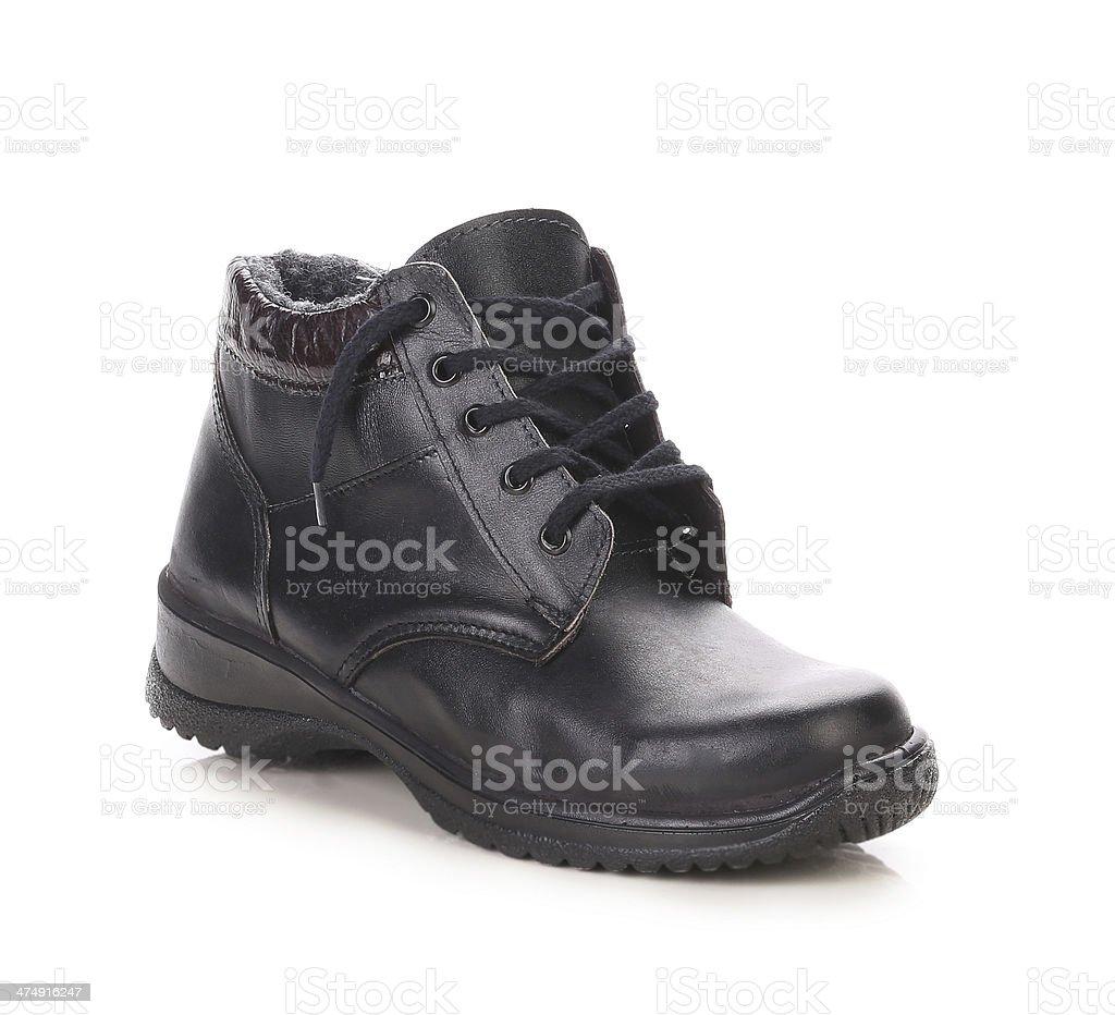 Black men's shoes. stock photo