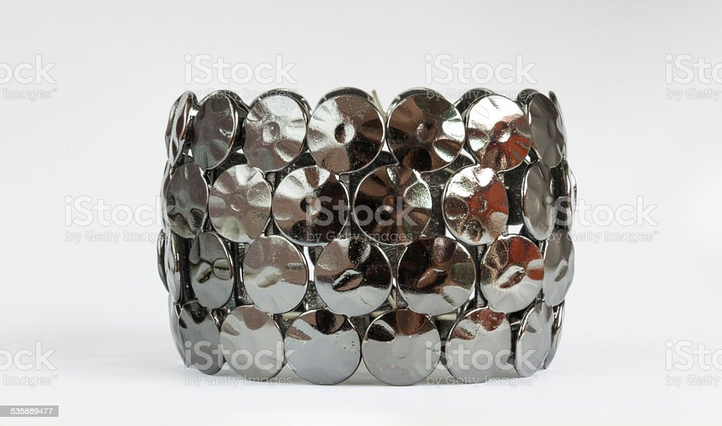 Black metal bracelet royalty-free stock photo