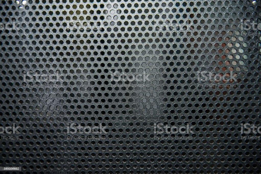 Black metal cells texture stock photo