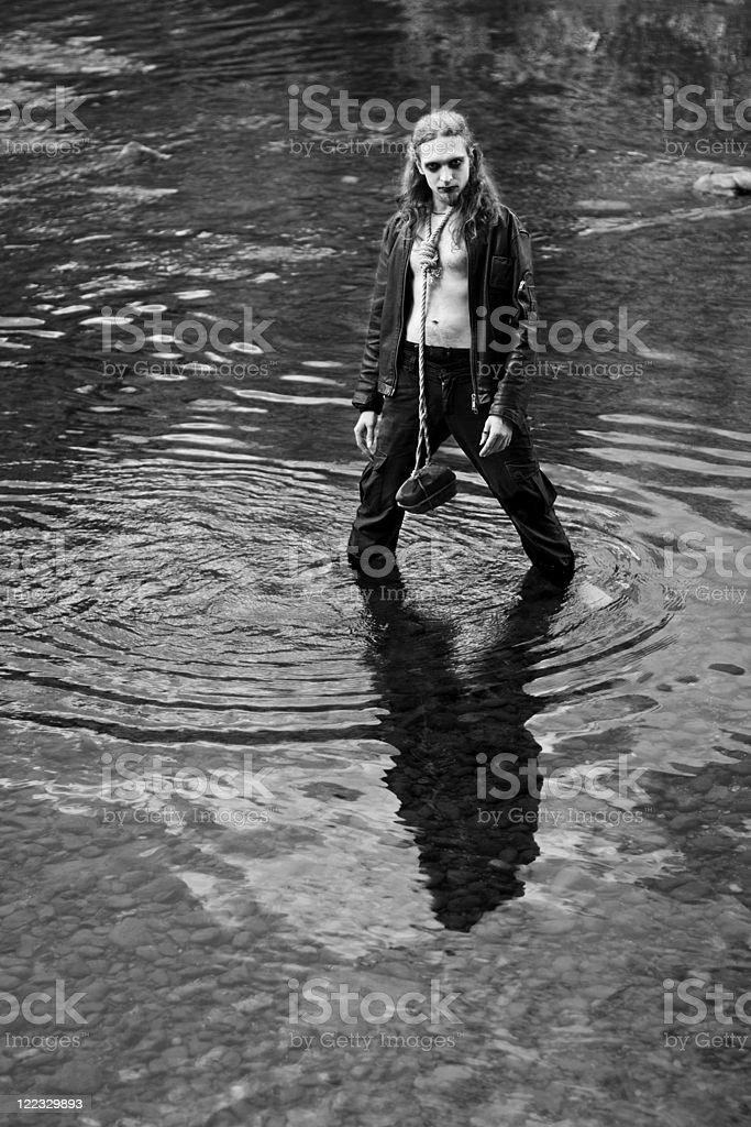 Black metal man royalty-free stock photo