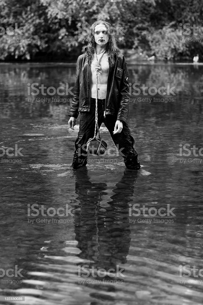 Black metal man royalty-free stock photo