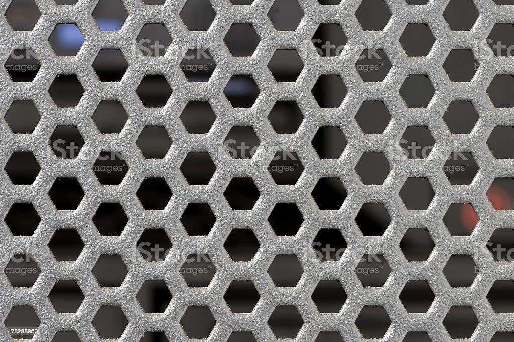 Black metal mesh stock photo