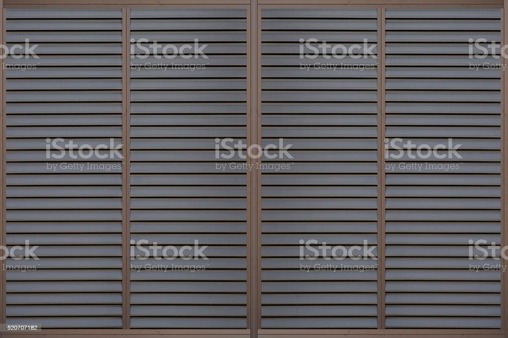 Black metal sliding window background seamless and texture stock photo