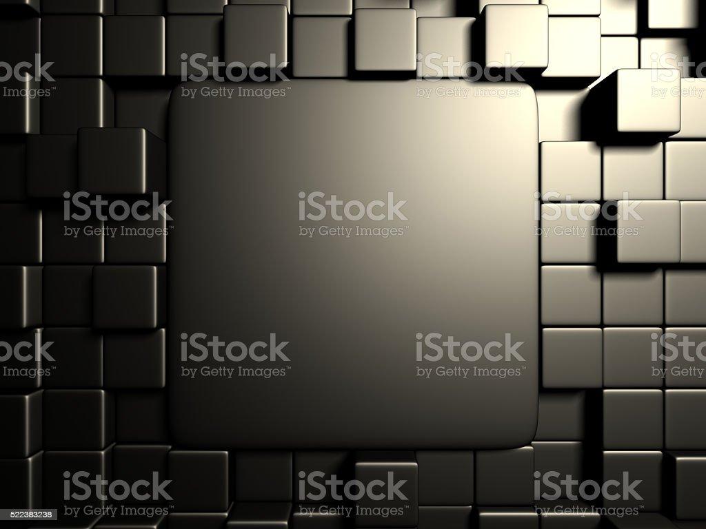 Black metallic cubes design background stock photo