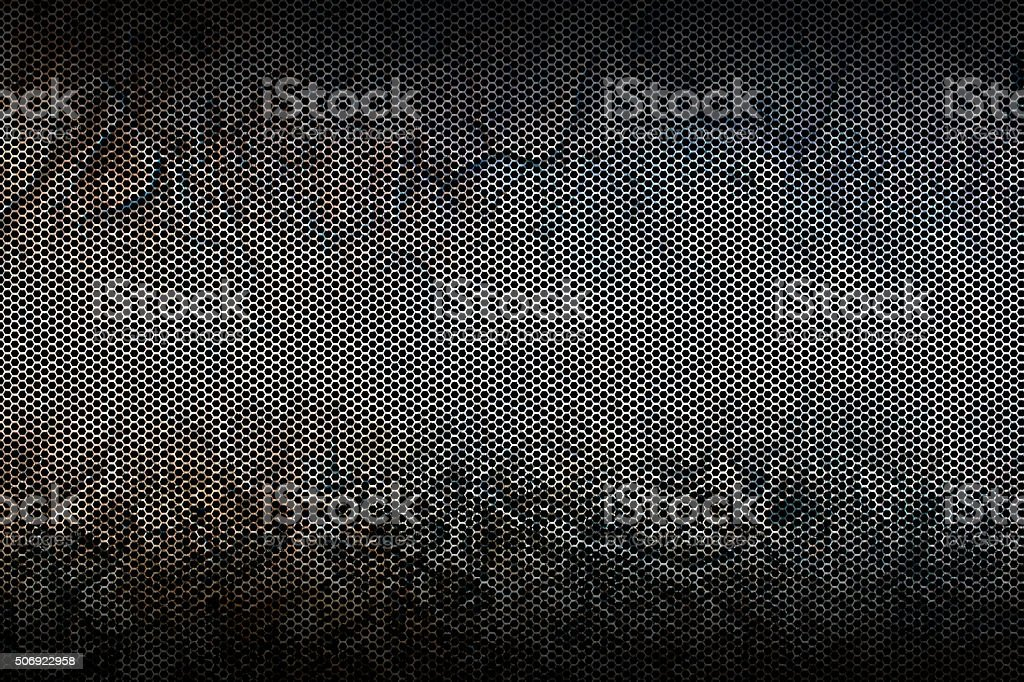 black metallic mesh background texture stock photo