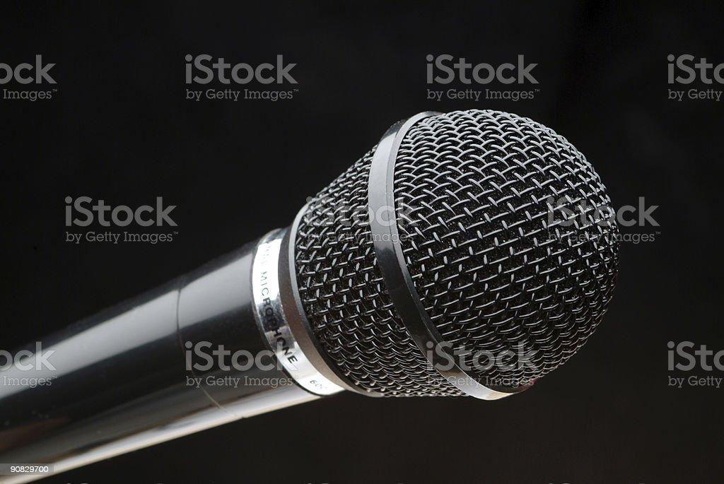Black microphone royalty-free stock photo