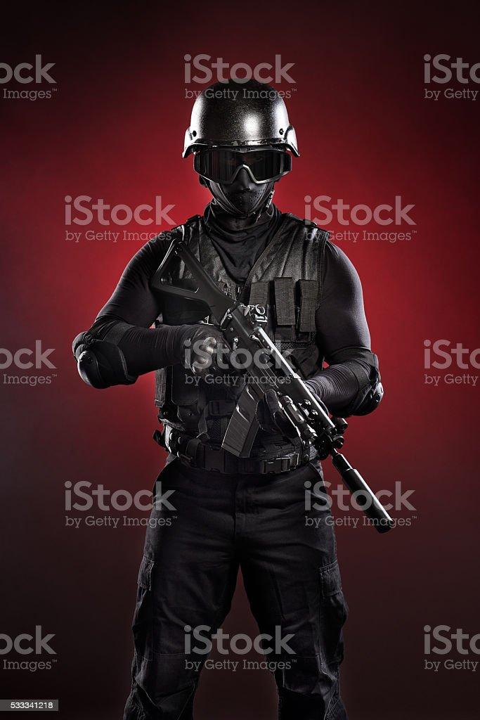 Black military man stock photo