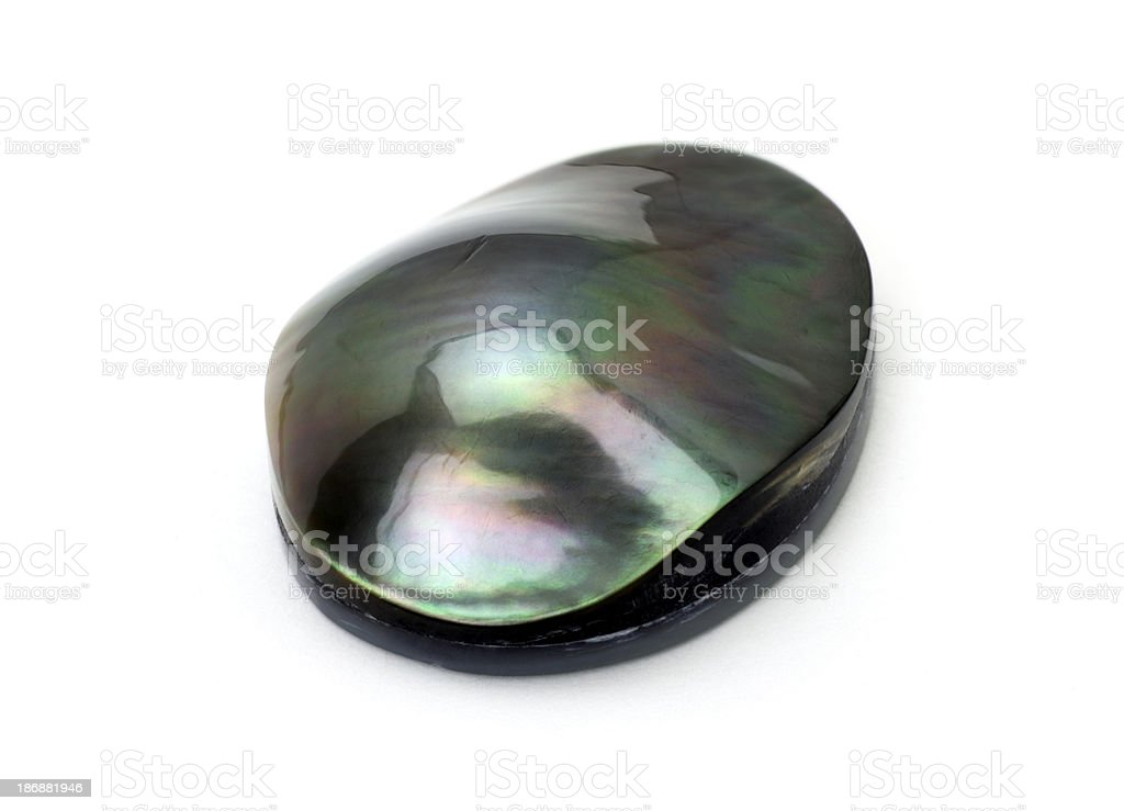 Black Mobe Pearl royalty-free stock photo