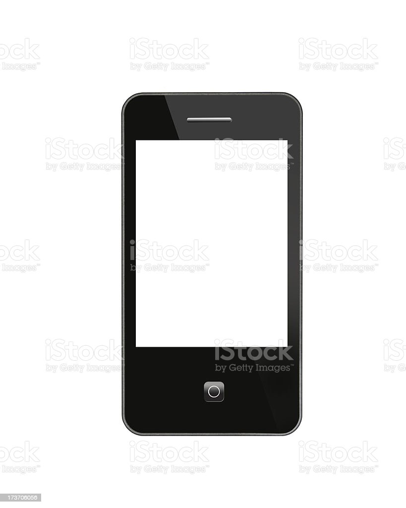 black modern mobile phone royalty-free stock photo