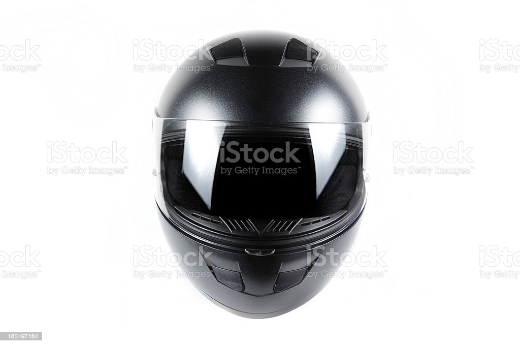 Black Motorcycle Helmet royalty-free stock photo