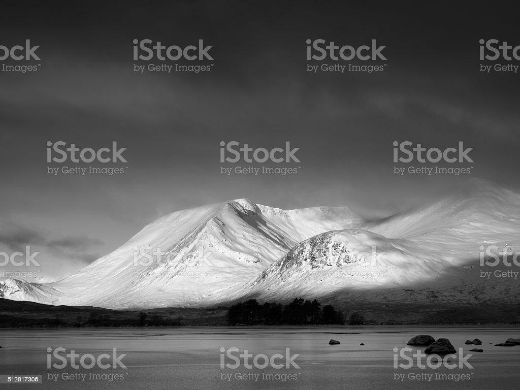 Black Mount winter. stock photo