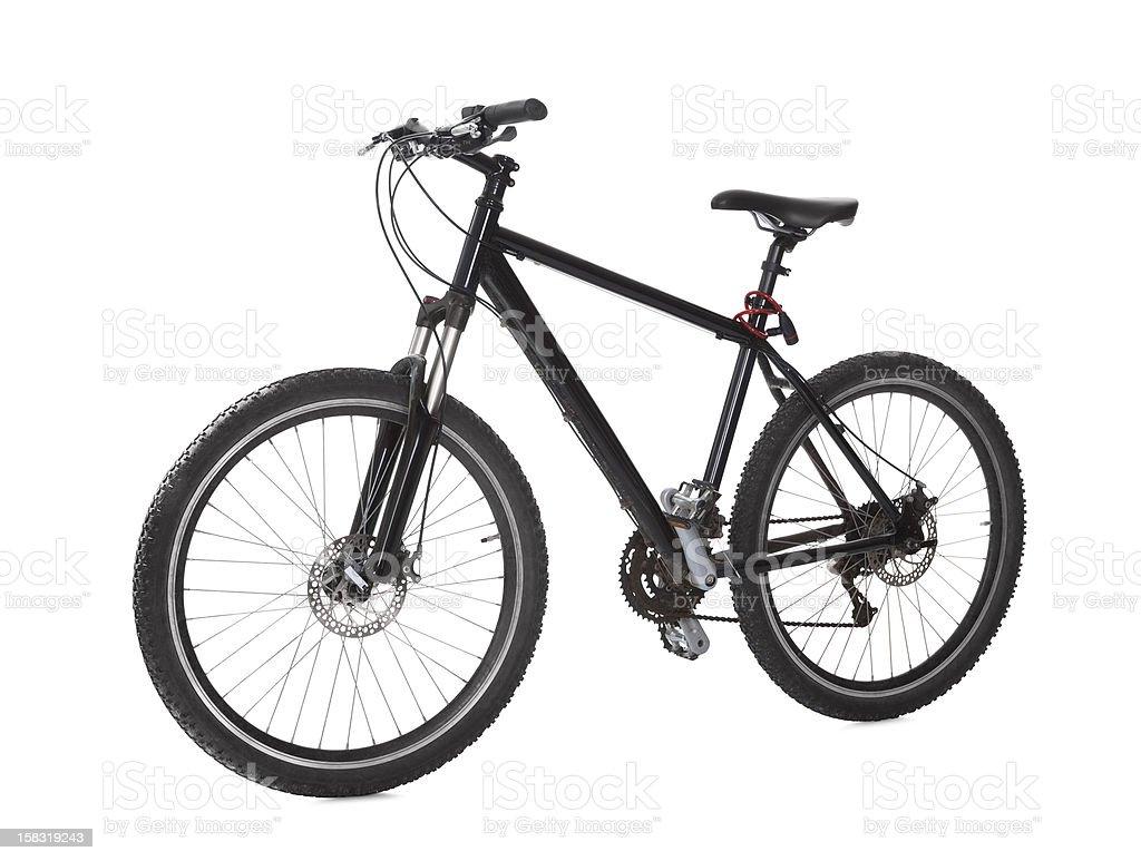 Black mountain bike stock photo