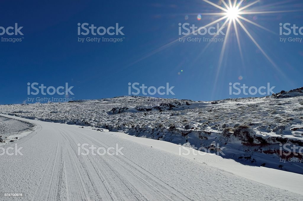 Black Mountain Pass stock photo