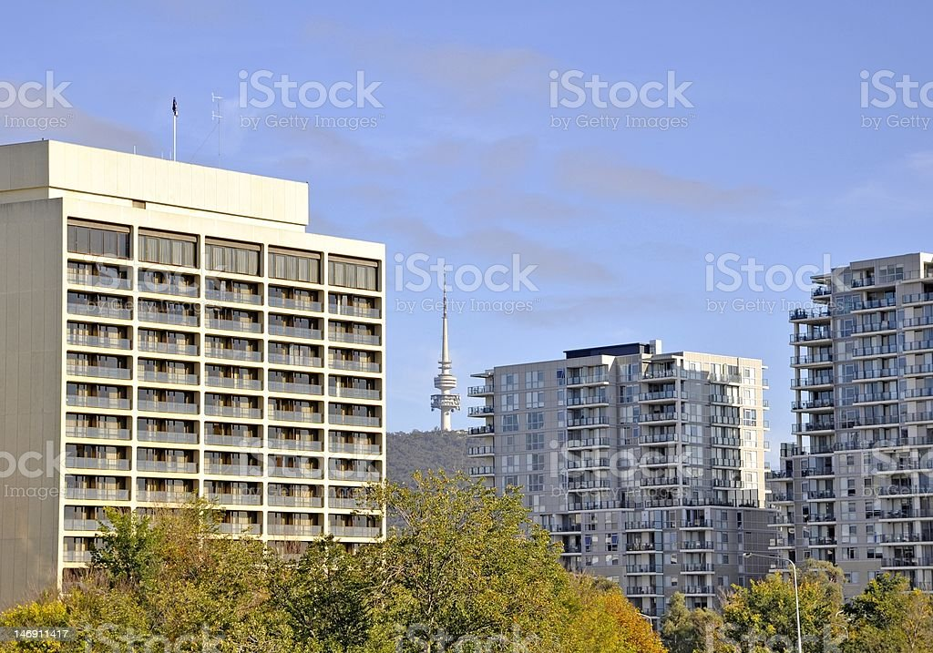Black Mountain Tower, Canberra stock photo