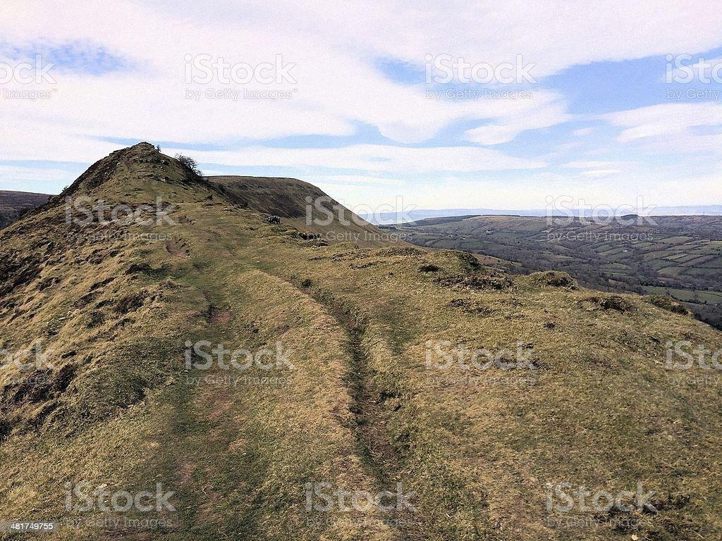 Black Mountains stock photo