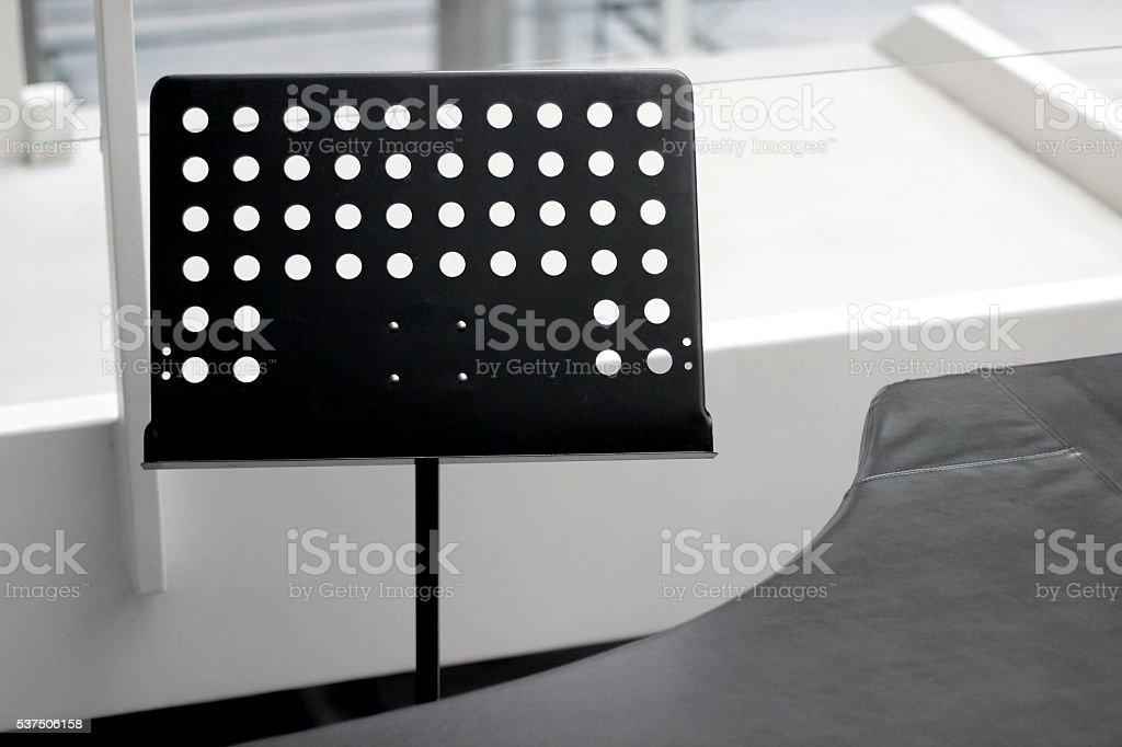 Black Music Sheets Holder stock photo