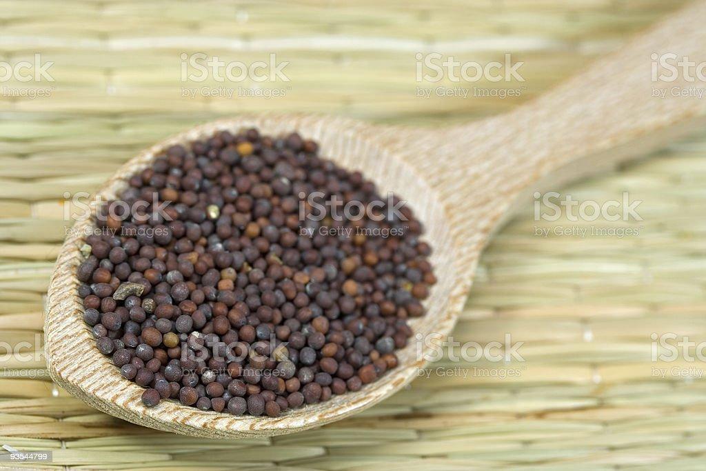 black mustard seeds royalty-free stock photo