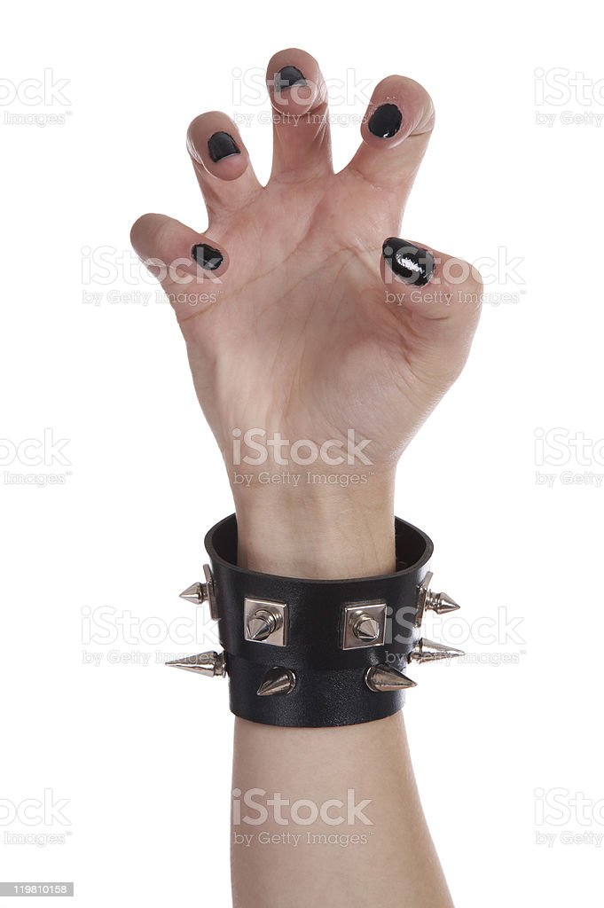 Black nails and bracelet royalty-free stock photo