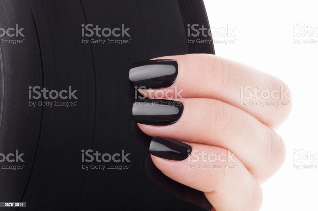 Black nails stock photo