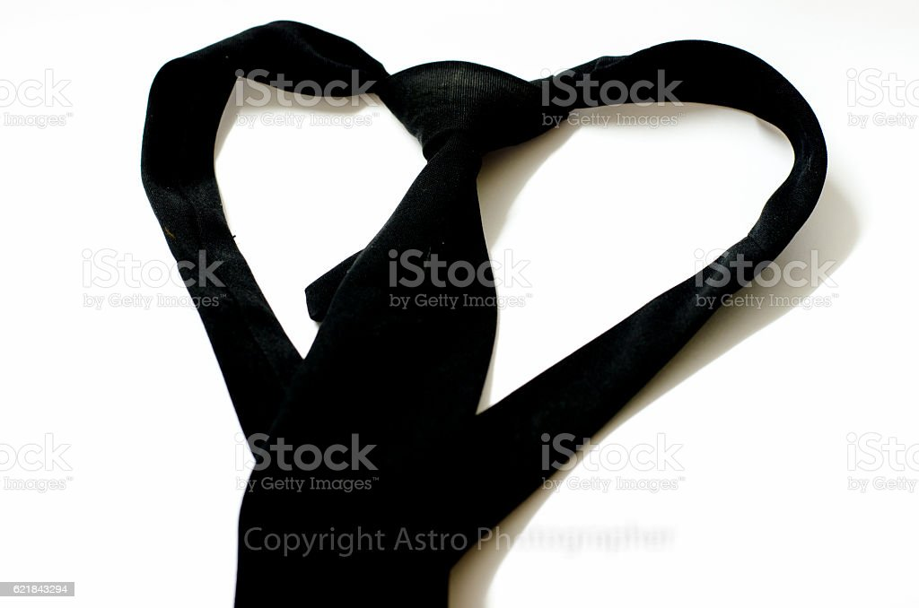 black necktide on white background stock photo