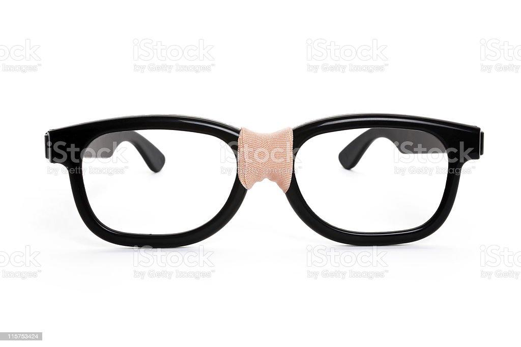 Black nerd Glasses stock photo