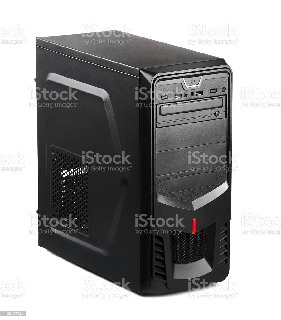 Black new PC stock photo
