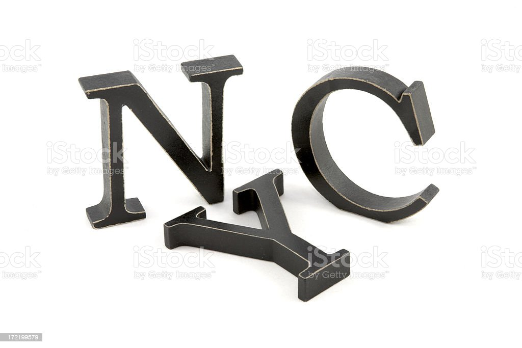 Black NYC Letters royalty-free stock photo