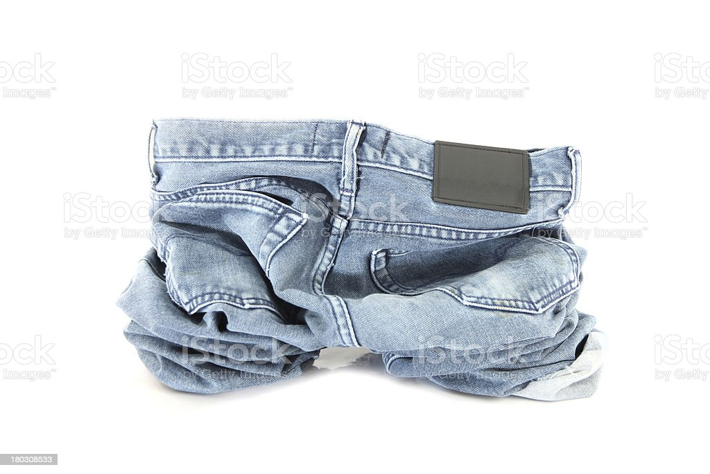 Black of jeans on the floor. royalty-free stock photo