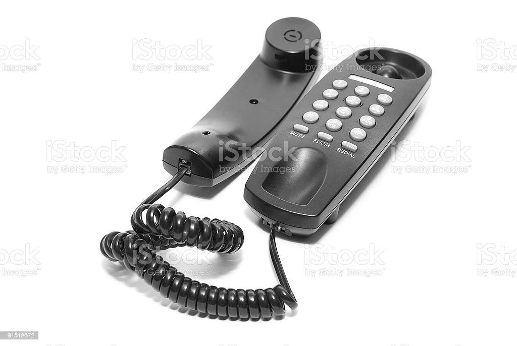 Téléphone de bureau noir photo libre de droits