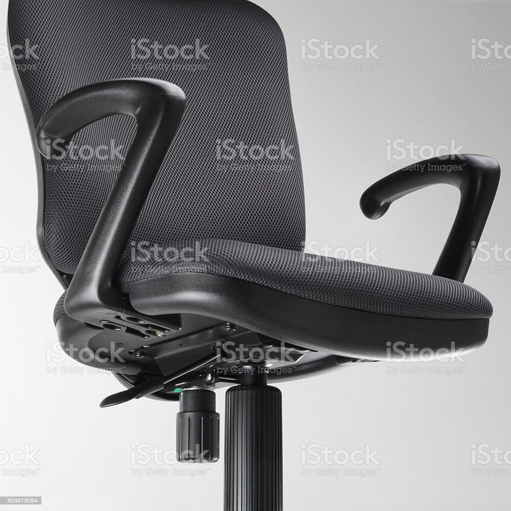 Black office swivel chair stock photo