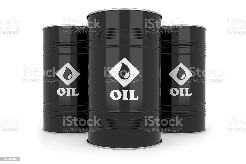 Black oil barrels. stock photo