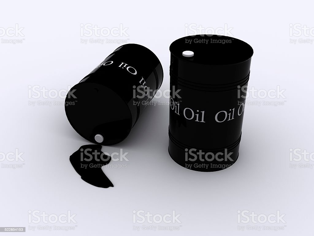 black oil drums stock photo