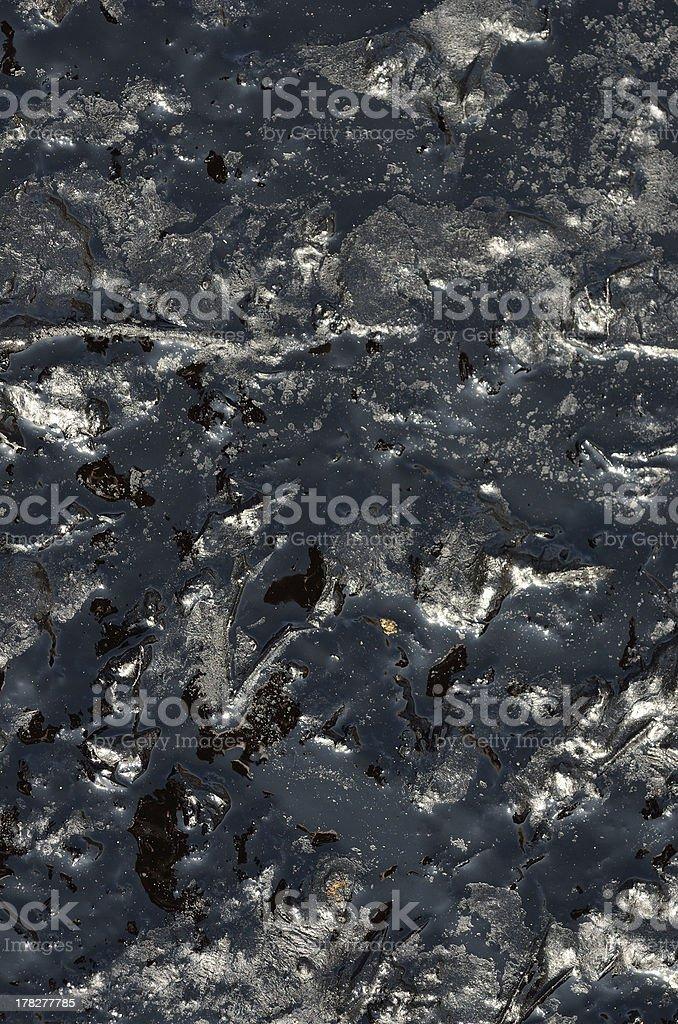 Black oil pollution stock photo