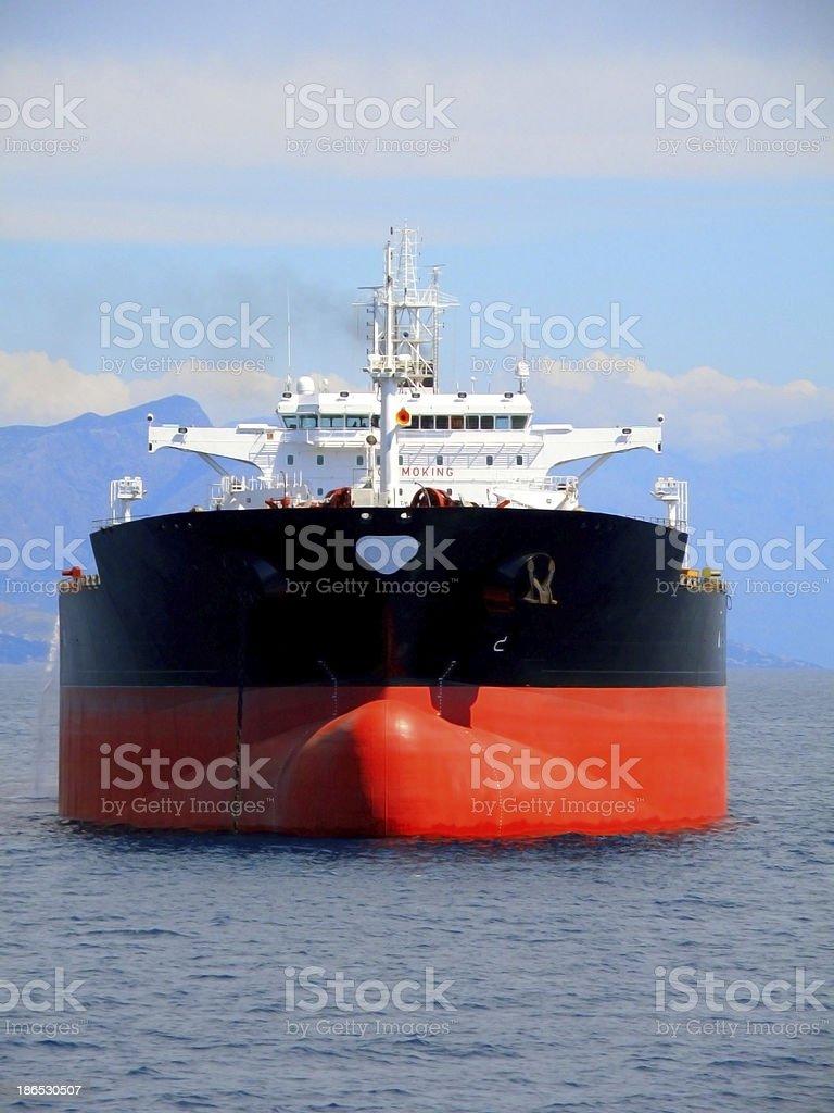 Black oil tanker stock photo