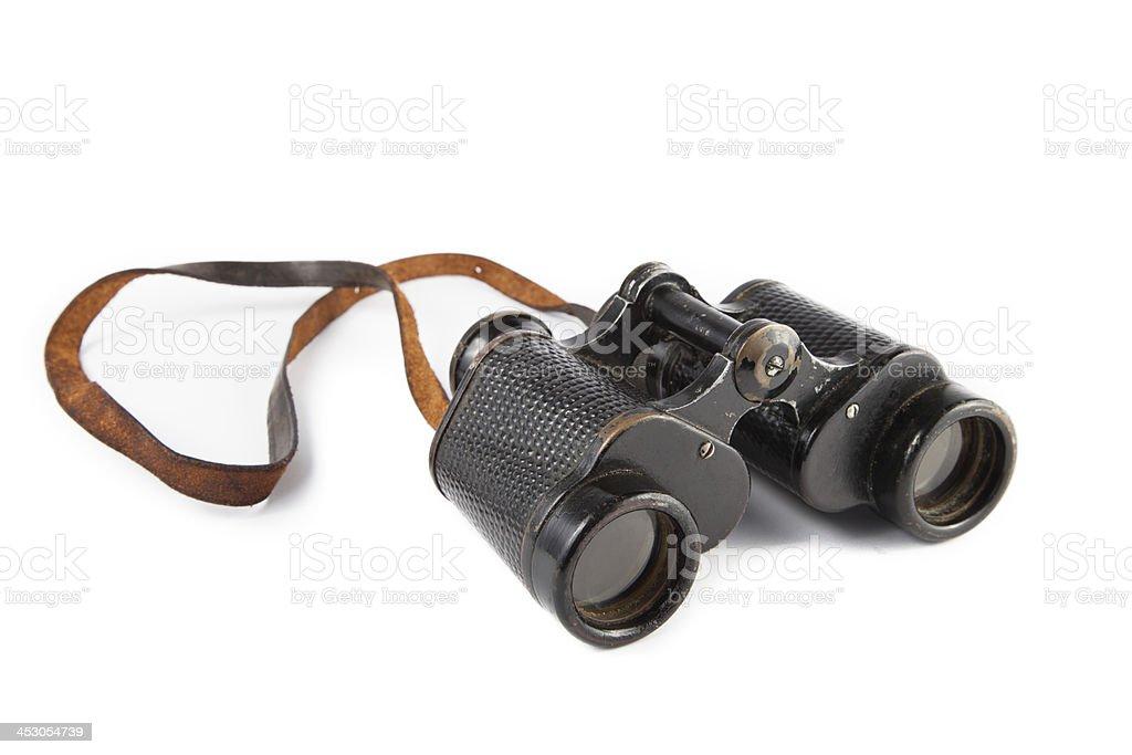 Black old military binoculars royalty-free stock photo