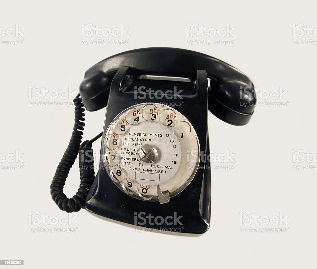 black old phone royalty-free stock photo