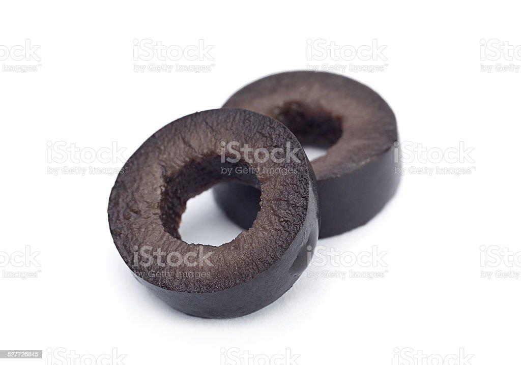 Black olive round slice stock photo