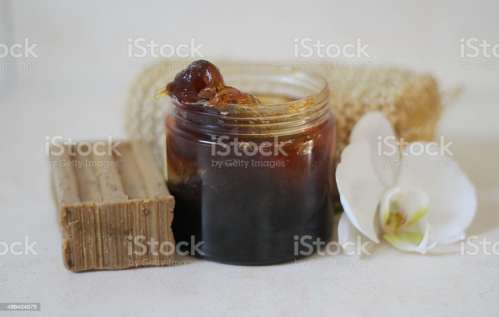Black Olive Soap stock photo