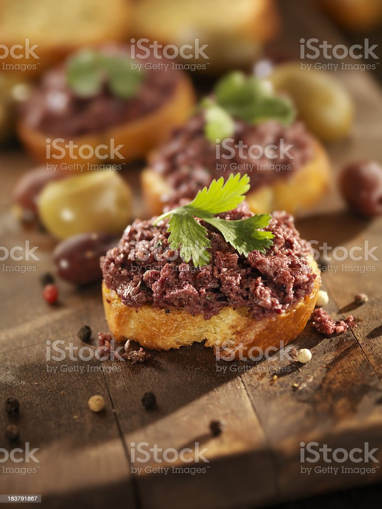Black Olive Tapenade royalty-free stock photo