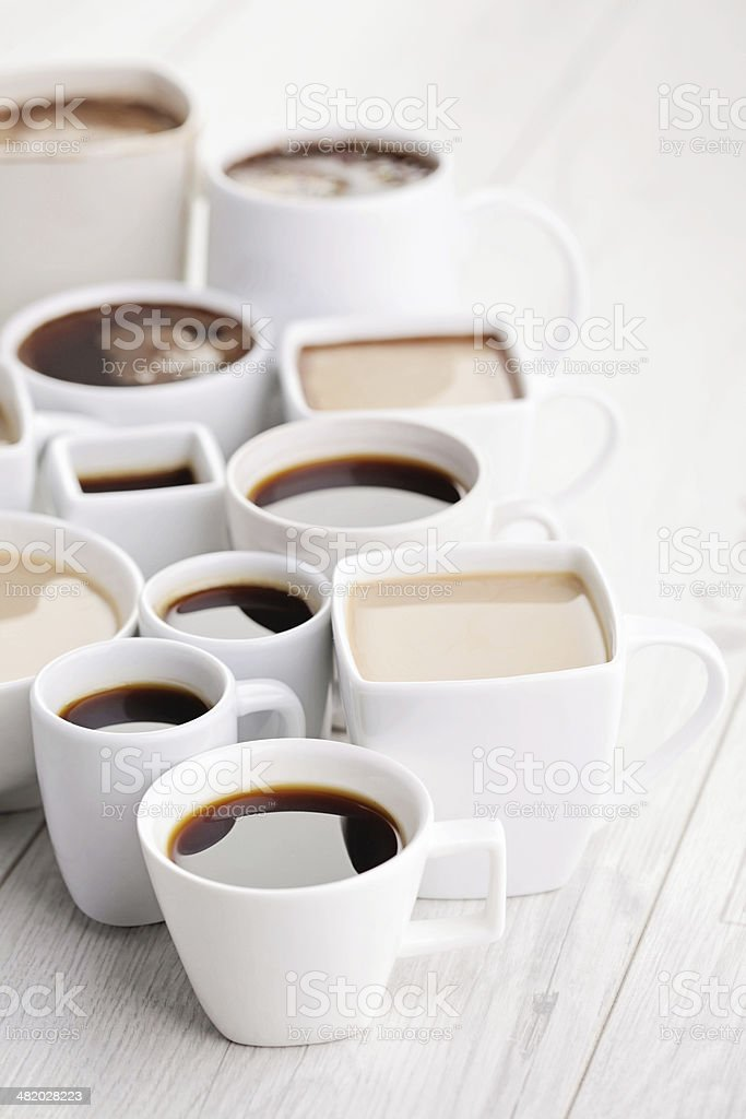 black or white coffee royalty-free stock photo
