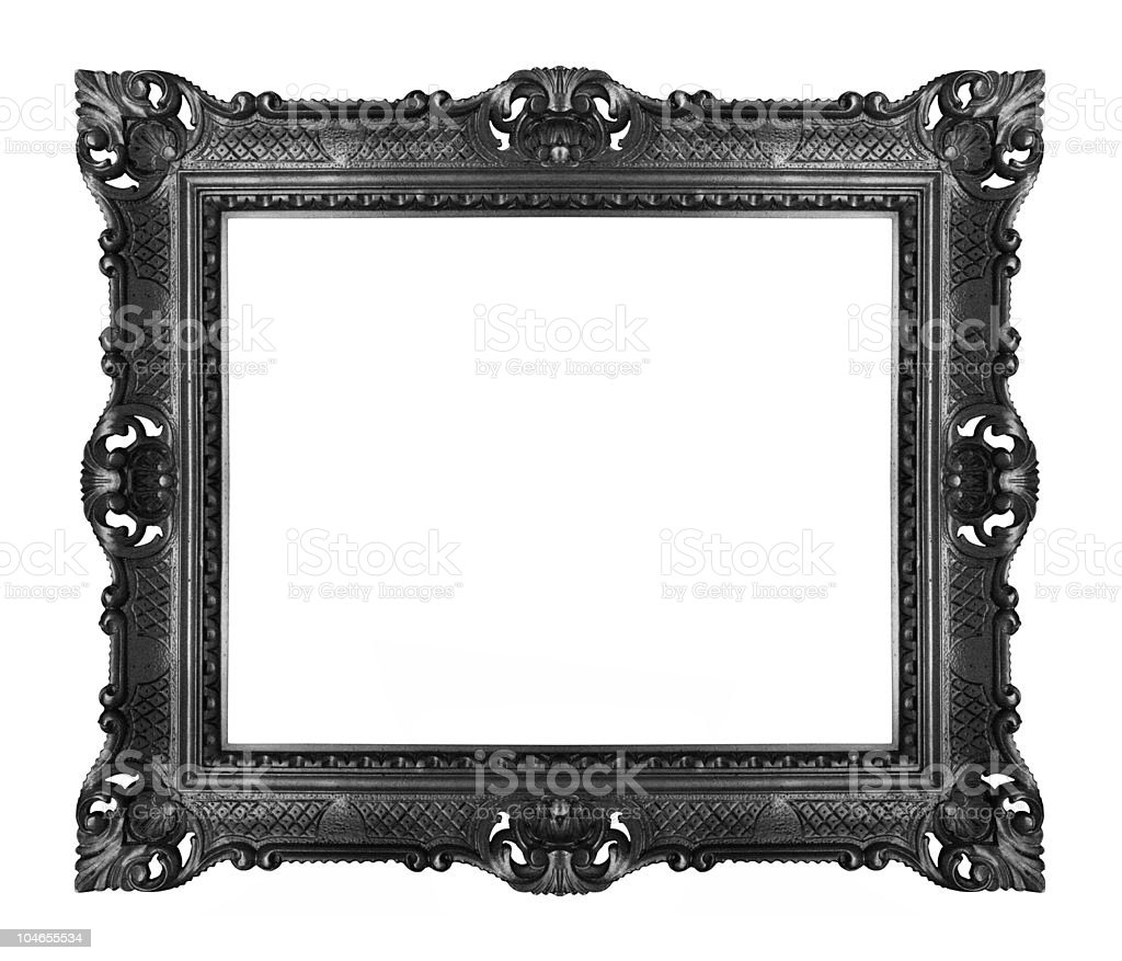 Black ornate frame stock photo