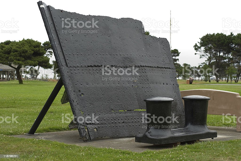 Black Paint and Rust stock photo