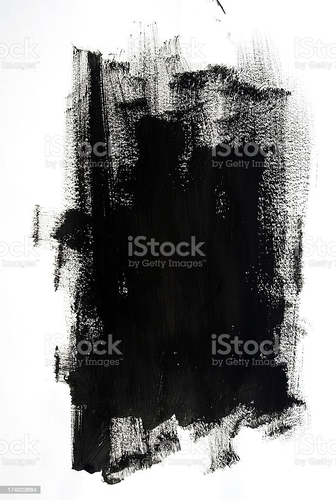 Black Paint stock photo
