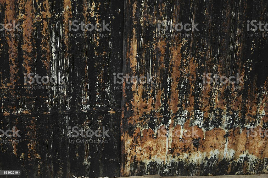 black paint & rust background royalty-free stock photo