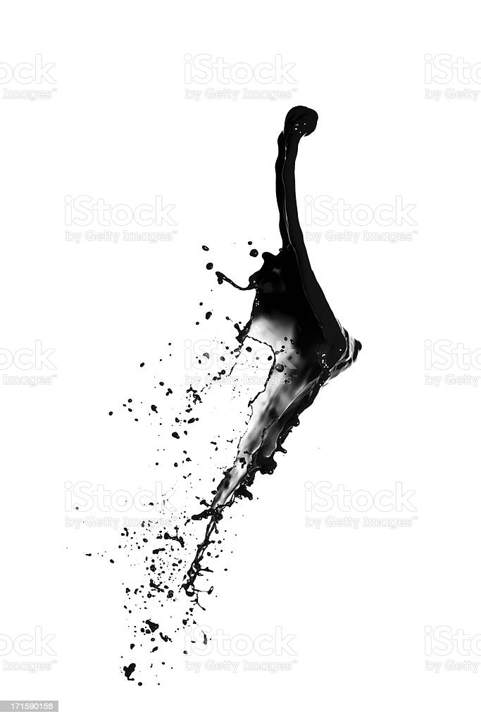 black paint splash stock photo