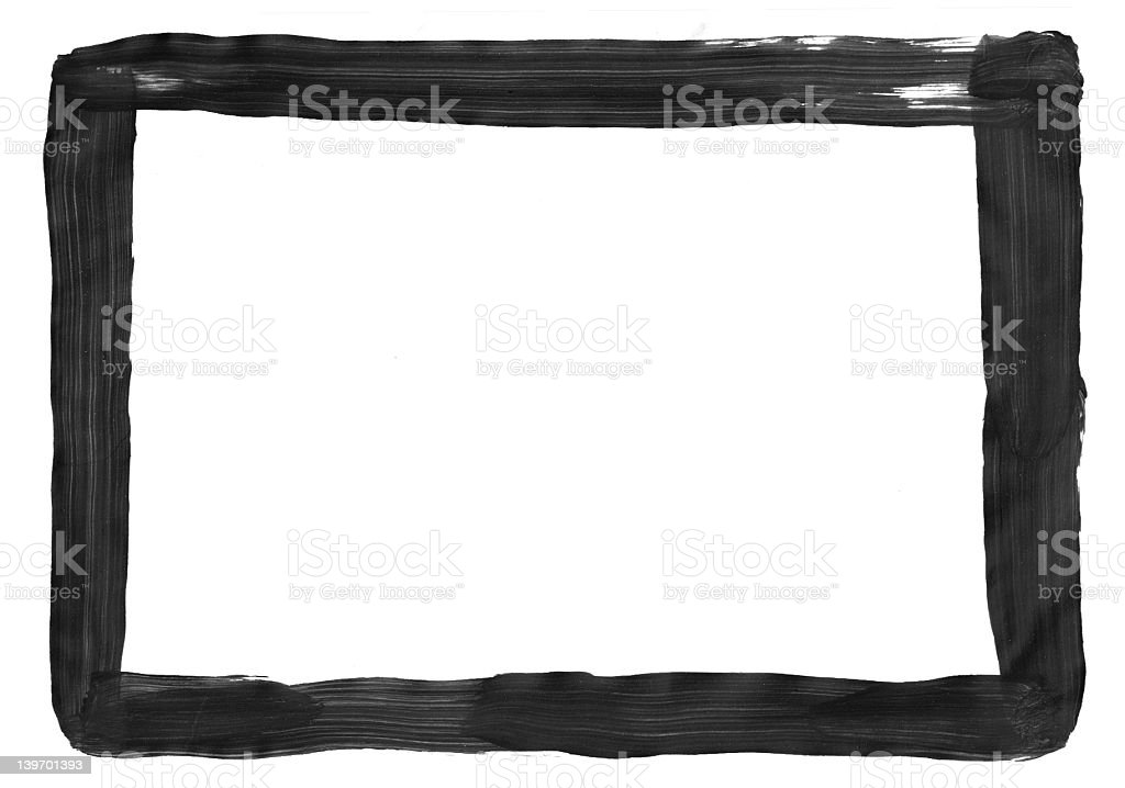 Black painted frame stock photo