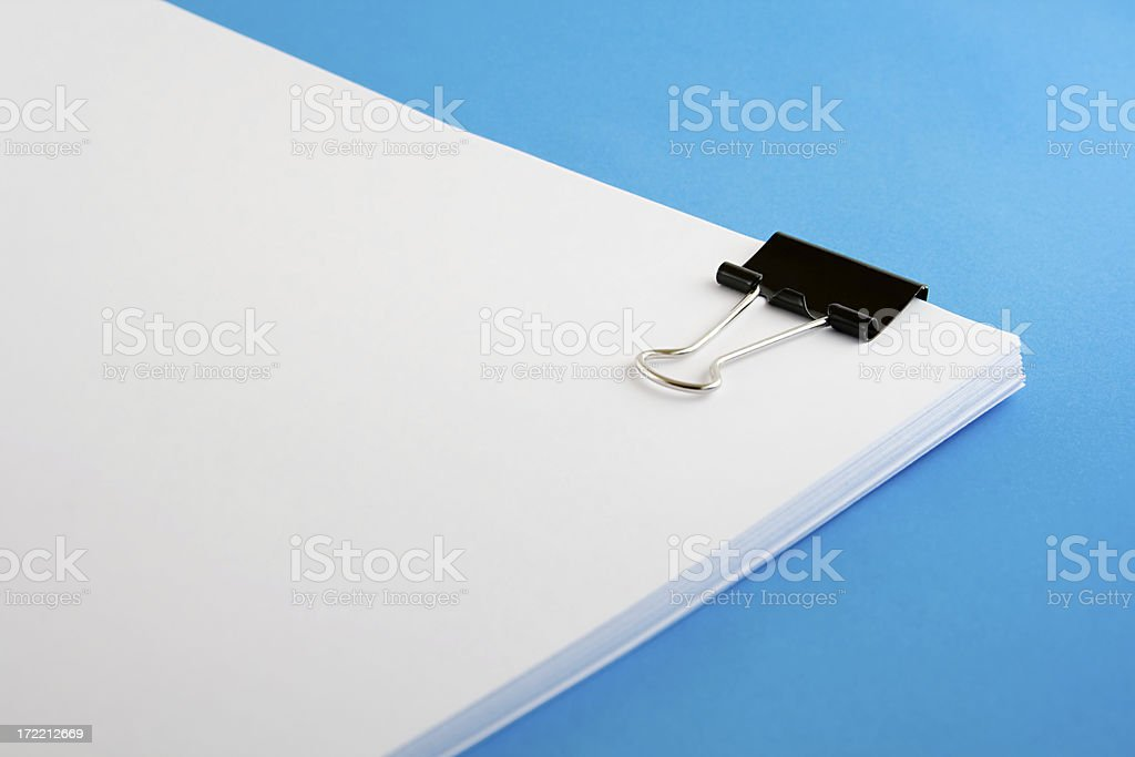 black paper clip royalty-free stock photo