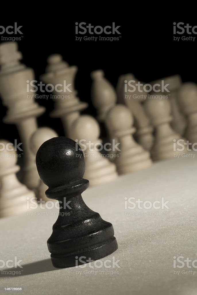 Black pawn royalty-free stock photo