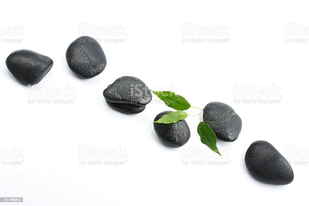 black pebbles royalty-free stock photo